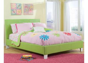 Fantasia Full Green Platform Bed